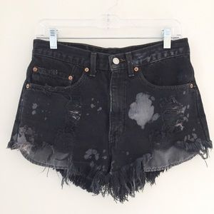 Levi's | tattered and bleached cut-offs